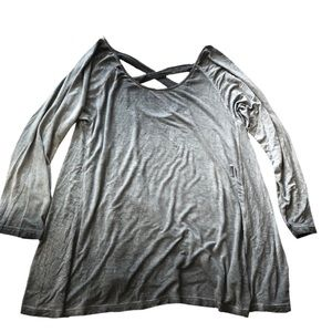 American eagle soft & sexy gray top size large